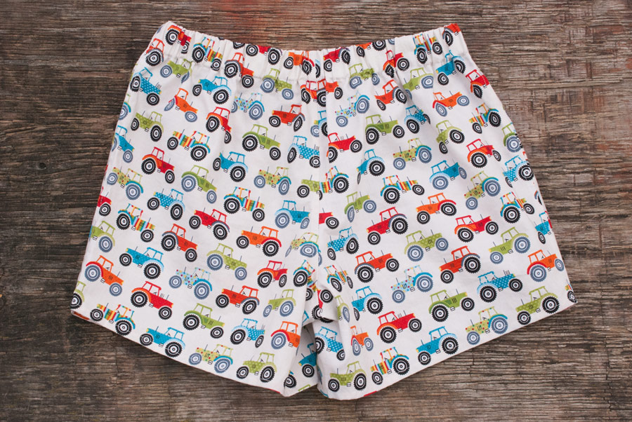 Tractor Print Measure Twice / Cut Once Darcy Boxers: Back