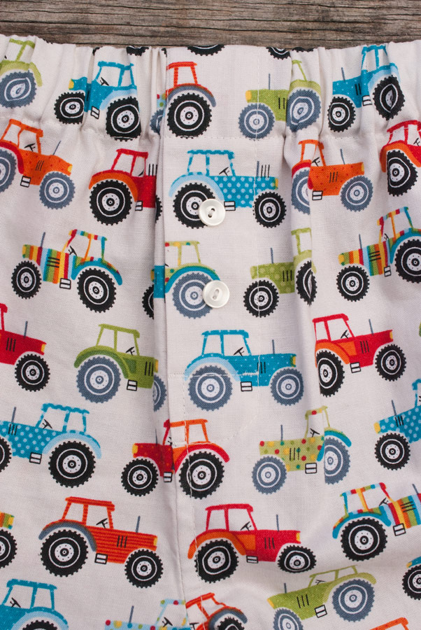 Tractor Print Measure Twice / Cut Once Darcy Boxers: Fly and Front Crotch