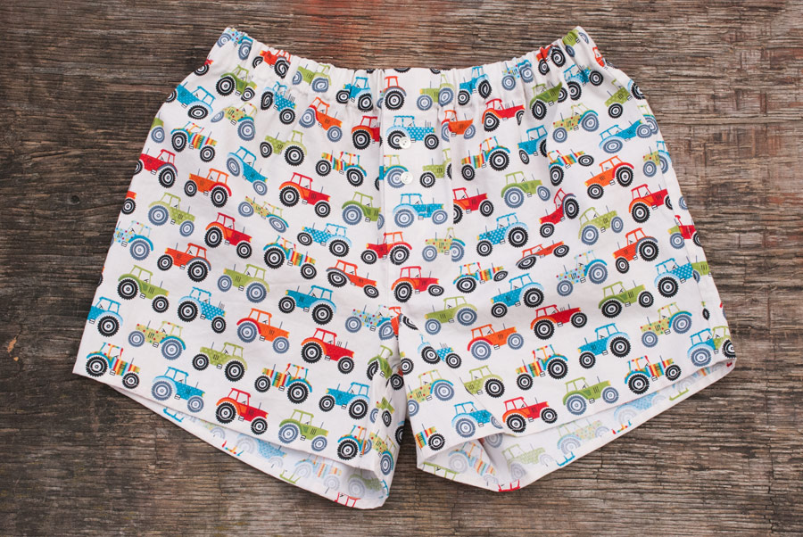 Tractor Print Measure Twice / Cut Once Darcy Boxers: Front