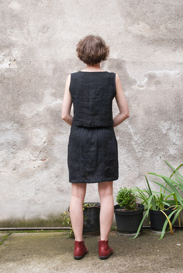 Refashioned Two-Piece Set: Back