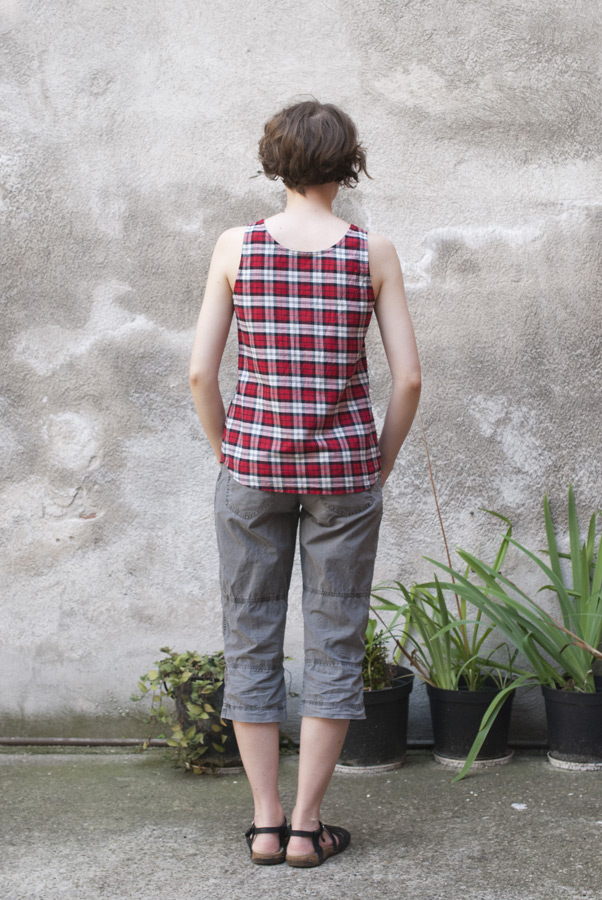 Plaid Tank Top: Back