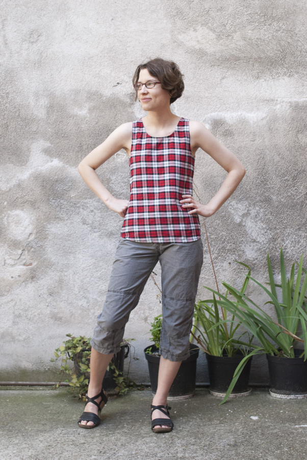 Plaid Tank Top: Front