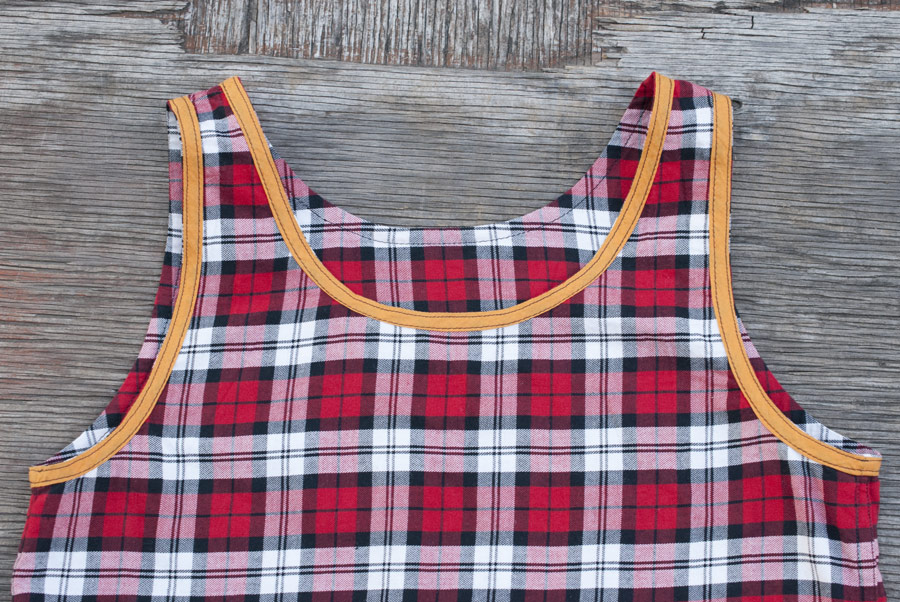 Plaid Tank Top: Inside