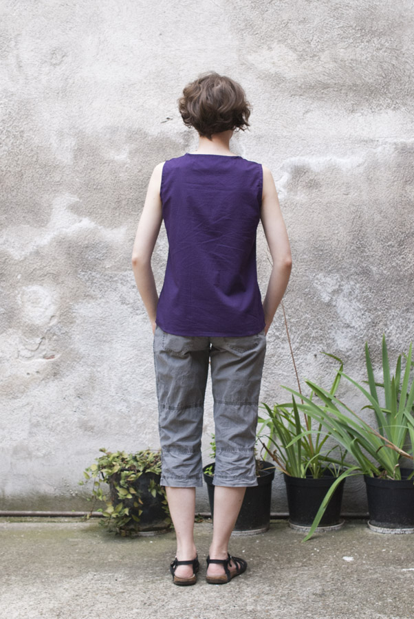 Purple Tank Top: Back