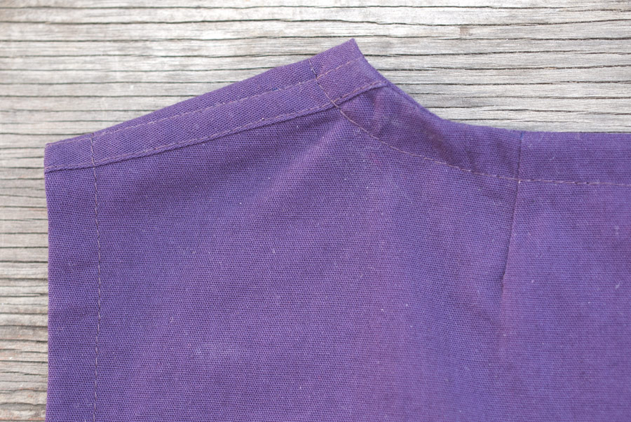 Purple Tank Top: Neckline Dart