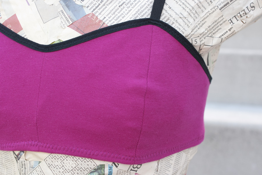 Hot Pink Ohhh Lulu Jasmine Soft Bra: Close-Up