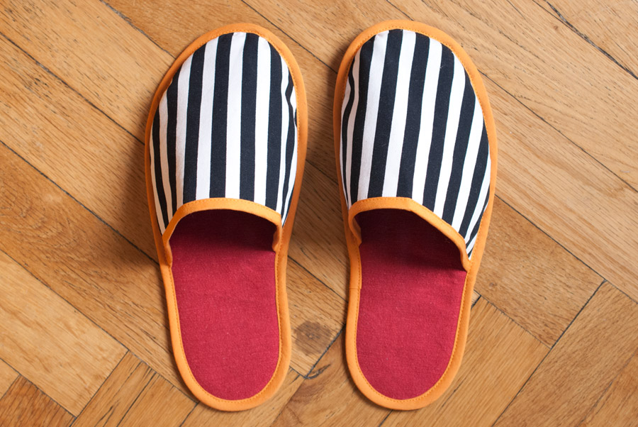 Stripey House Slippers: Top