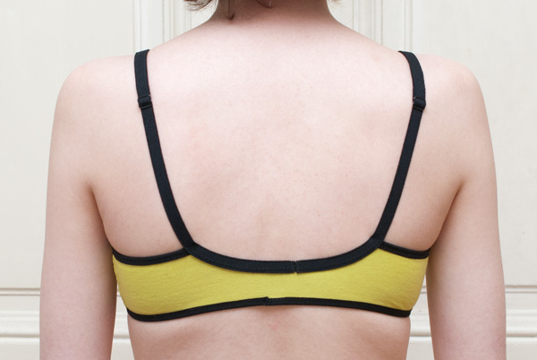 Neon Green Cloth Habit Watson Bra: Back