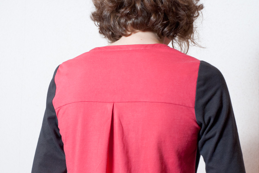 Refashioned, Colour-Blocked Thread Theory Camas Blouse: Back Pleat