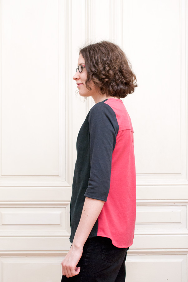 Refashioned, Colour-Blocked Thread Theory Camas Blouse: Side