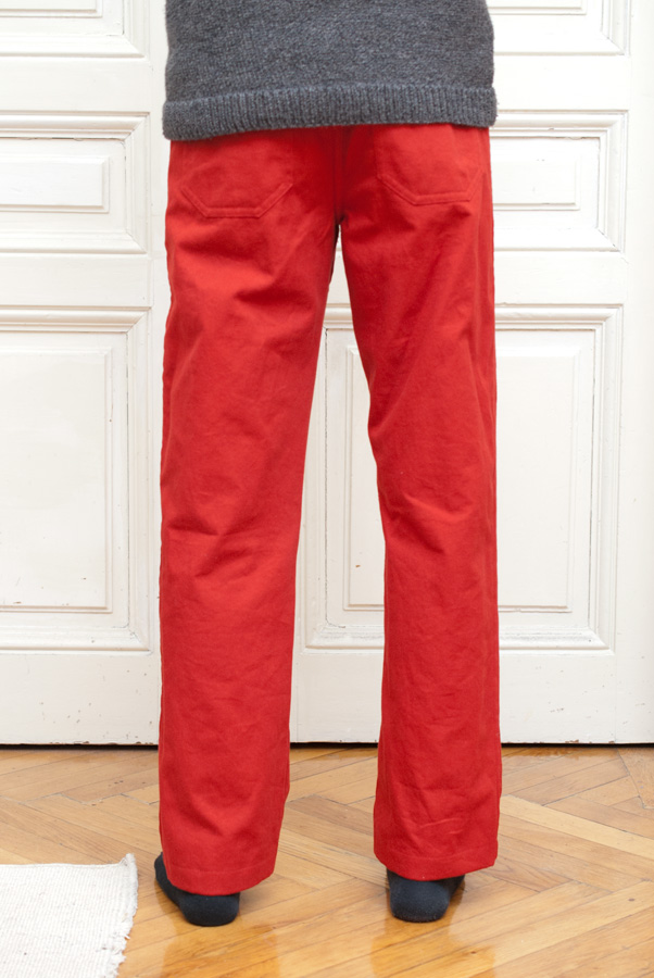 Bright Red Thread Theory Jutland Trousers: Back