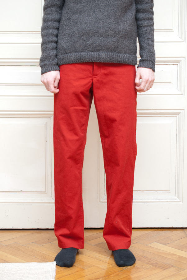 Bright Red Thread Theory Jutland Trousers: Front