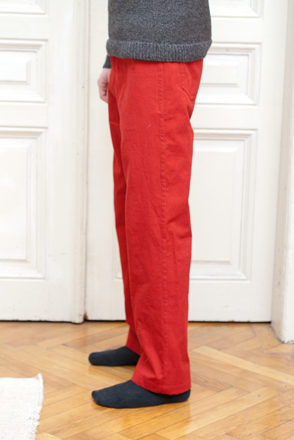Bright Red Thread Theory Jutland Trousers: Side